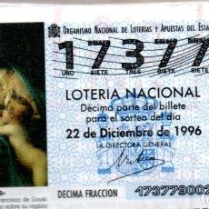Lotería Nacional: LOTERIA NACIONAL DEL SABADO - AÑO 1996 COMPLETO. Lote 195751026