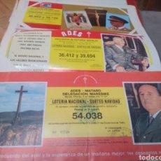 Lotería Nacional: 6 DECIMOS DE LOTERÍA DE NAVIDAD, SORTEO DE NAVIDAD, DE LA ASOCIACIÓN ADES, CON LA FOTO DE FRANCO. Lote 195910881
