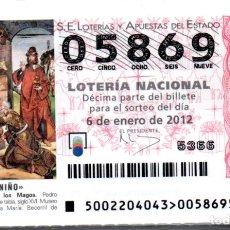 Lotería Nacional: LOTERÍA NACIONAL DEL SÁBADO - AÑO 2012 COMPLETO. Lote 196603961