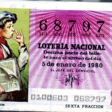 Lotería Nacional: LOTERÍA NACIONAL DEL SÁBADO - AÑO 1980 COMPLETO. Lote 196605607