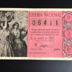Loterie Nationale: LOTERIA AÑO 1960 SORTEO 14. Lote 196743392