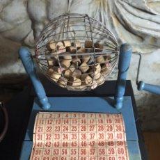 Lotería Nacional: LOTERIA BOMBO MUY ANTIGUO DE MADERA. Lote 196916713