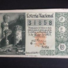 Lotería Nacional: LOTERIA AÑO 1953 SORTEO 13. Lote 197121262