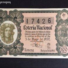 Lotería Nacional: LOTERIA AÑO 1952 SORTEO 13. Lote 197161825
