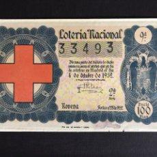 Lotería Nacional: LOTERIA AÑO 1952 SORTEO 28. Lote 197162315