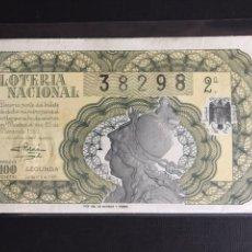 Lotería Nacional: LOTERIA AÑO 1950 SORTEO 9. Lote 197328107