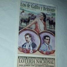 Lotería Nacional: LOTERÍA NACIONAL CLUB TAURINO SORTEO EXTRAORDINARIO DE NAVIDAD LIBRERÍA SANCHEZ AÑO 2002. Lote 197439118
