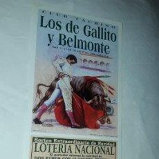 Lotería Nacional: LOTERÍA NACIONAL CLUB TAURINO SORTEO EXTRAORDINARIO DE NAVIDAD LIBRERÍA SANCHEZ AÑO 2002. Lote 197439496