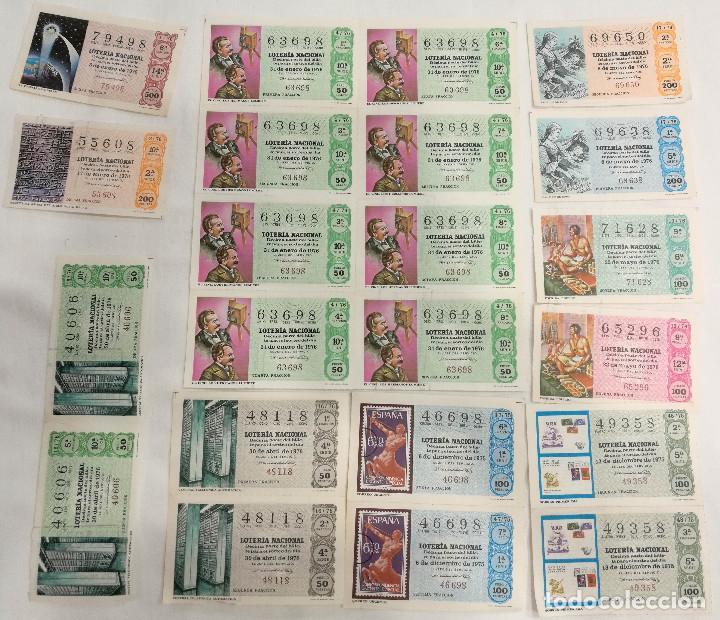 19 DÉCIMOS LOTERIA NACIONAL 1976 (VER FOTO) (Coleccionismo - Lotería Nacional)