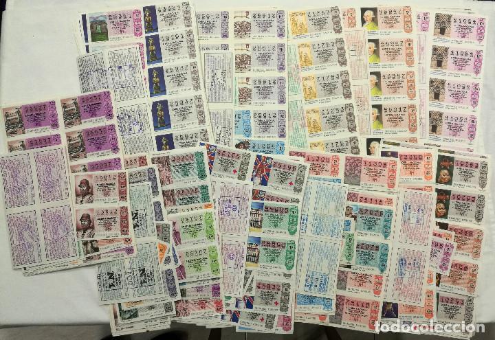 LOTE 2225 (APROX) DÉCIMOS LOTERÍA NACIONAL DESDE 1980 A 1989. MAYORÍA HOJAS ENTERAS (Coleccionismo - Lotería Nacional)