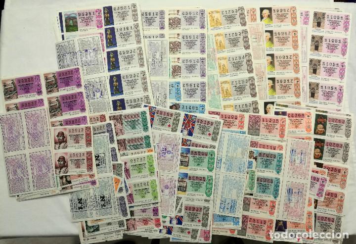LOTE 2245 (APROX) DÉCIMOS LOTERÍA NACIONAL DESDE 1990 A 1998. CASI TODO HOJAS ENTERAS (Coleccionismo - Lotería Nacional)