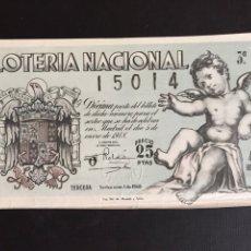 Lotería Nacional: LOTERIA AÑO 1948 SORTEO 1. Lote 197527886