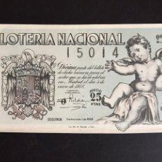 Lotería Nacional: LOTERIA AÑO 1948 SORTEO 1. Lote 197527980