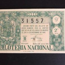 Lotería Nacional: LOTERIA AÑO 1948 SORTEO 35. Lote 197530818