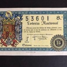 Lotería Nacional: LOTERIA AÑO 1946 SORTEO 21. Lote 197609653