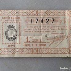 Lotería Nacional: LOTERÍA NACIONAL 1935. Lote 198551523