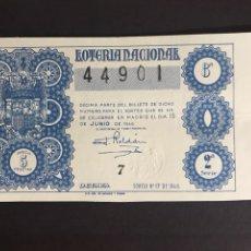 Lotteria Nationale Spagnola: LOTERIA AÑO 1946 SORTEO 17. Lote 199272585