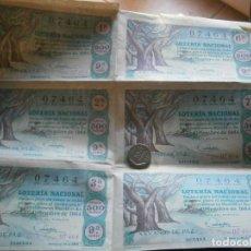 Lotería Nacional: LOTE DE 6 N DE LOTERIA NACIONAL,,AÑO,,1964¡. Lote 199400108