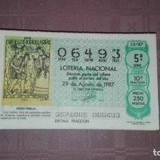 Lotería Nacional: LOTE DE 100 NUMEROS DE LOTERIA DE LOS SABADOS REPETIDOS. Lote 199834268