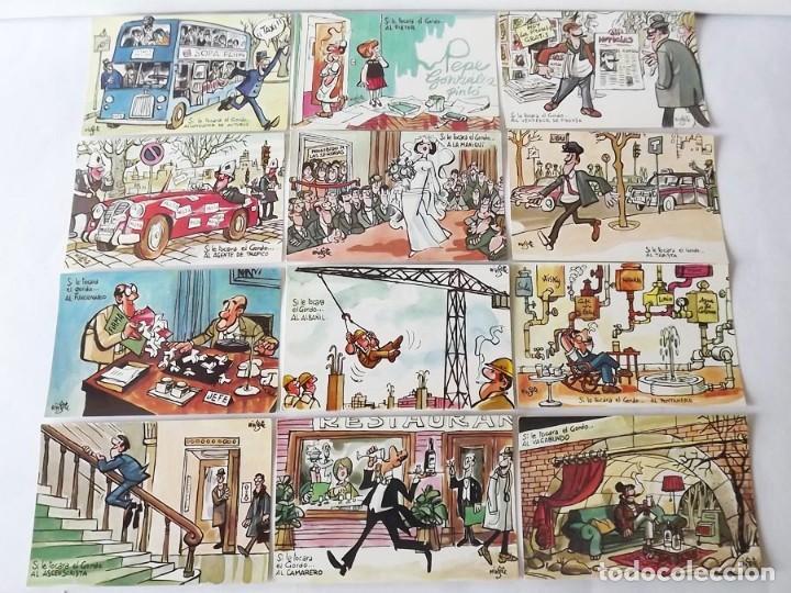 1970, 12 POSTALES DE LOTERÍA NACIONAL MINGOTE, IMPRESAS POR LA FNMT (Coleccionismo - Lotería Nacional)