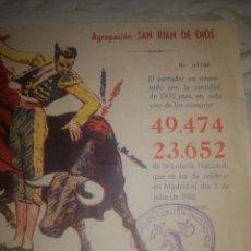 Lotería Nacional: DOCUMENTO LOTERIA NACIONAL. Lote 200118998