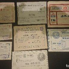 Lotteria Nationale Spagnola: LOTE DE 15 PARTICIPACIONES DE LOTERIA NACIONAL APARTIR 1920 AL 1929 , LEER DESCRIPCION. Lote 200169378