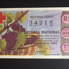 Loterie Nationale: LOTERIA AÑO 1964 SORTEO 29. Lote 200321780