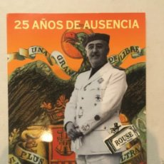 Lotería Nacional: POLÍTICA / NÚMERO DE LOTERÍA TRÍPTICO 25 AÑOS DE AUSENCIA BAZAR NACIONAL AÑO 2000 - 62,5X29 CM. ABIE. Lote 200559680