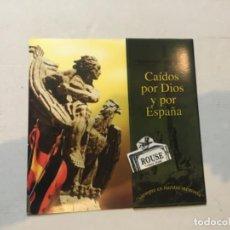 Lotería Nacional: LOTERÍA / POLÍTICA - NUESTRA FUERZA ES LA UNIDAD , CAÍDOS POR DIOS Y POR ESPAÑA IMAGEN LENTICULAR TR. Lote 200566500