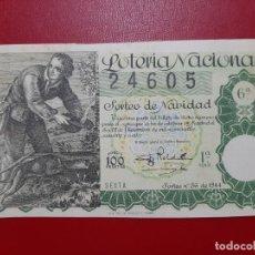Lotteria Nationale Spagnola: DECIMO LOTERIA AÑO 1944 EL DE LA FOTO. Lote 201667176