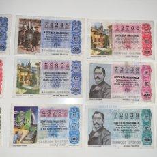 Lotería Nacional: LOTE 47 DECIMOS BOLETOS LOTERÍA NACIONAL 1980. Lote 201806938