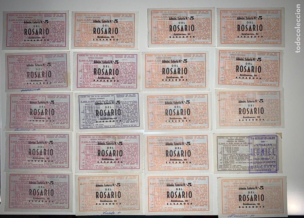 Lotería Nacional: Lote 59 decimos boletos lotería nacional 1978 - Foto 2 - 201808581