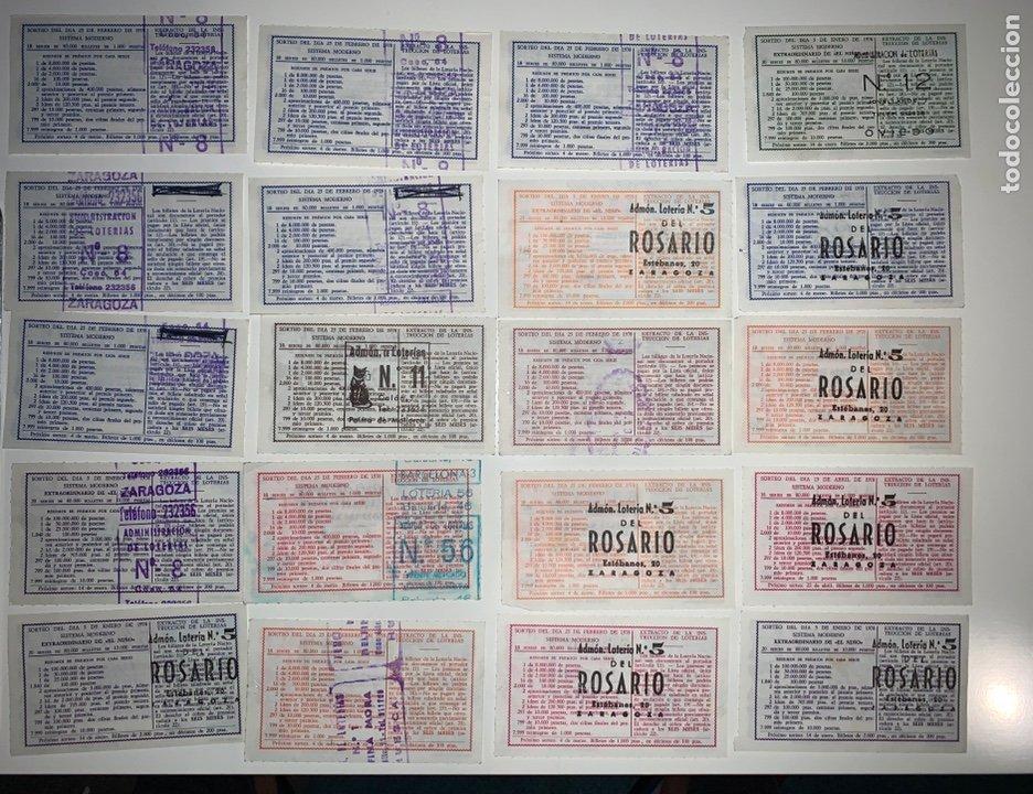 Lotería Nacional: Lote 59 decimos boletos lotería nacional 1978 - Foto 4 - 201808581