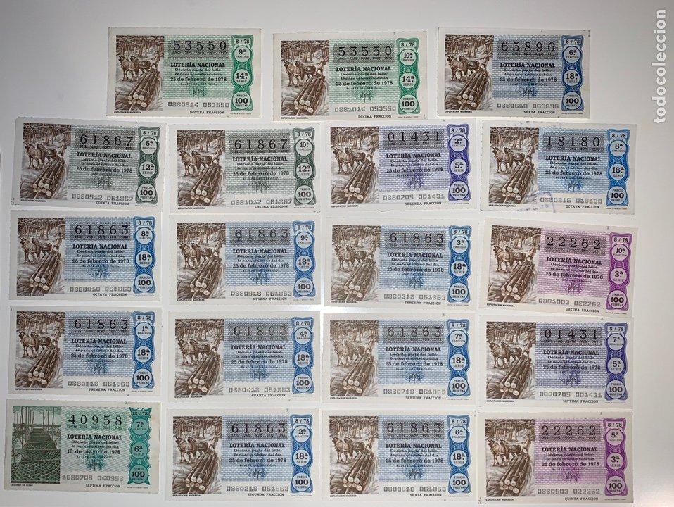 Lotería Nacional: Lote 59 decimos boletos lotería nacional 1978 - Foto 5 - 201808581