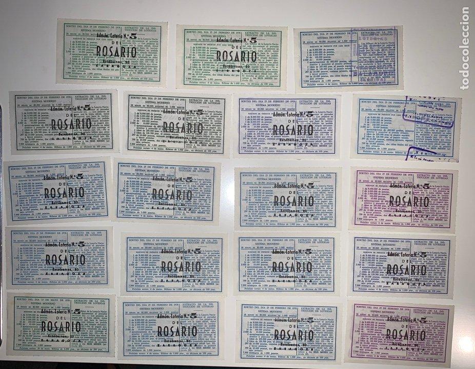 Lotería Nacional: Lote 59 decimos boletos lotería nacional 1978 - Foto 6 - 201808581