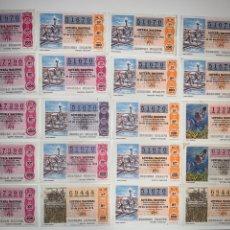 Lotería Nacional: LOTE 59 DECIMOS BOLETOS LOTERÍA NACIONAL 1978. Lote 201808581