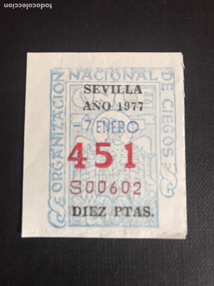 LOTERÍA CUPON ONCE AÑO 1977 SEVILLA (Coleccionismo - Lotería Nacional)