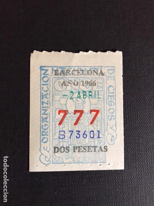 LOTERIA CUPON ONCE AÑO 1966 NUMERACIÓN 777 (Coleccionismo - Lotería Nacional)