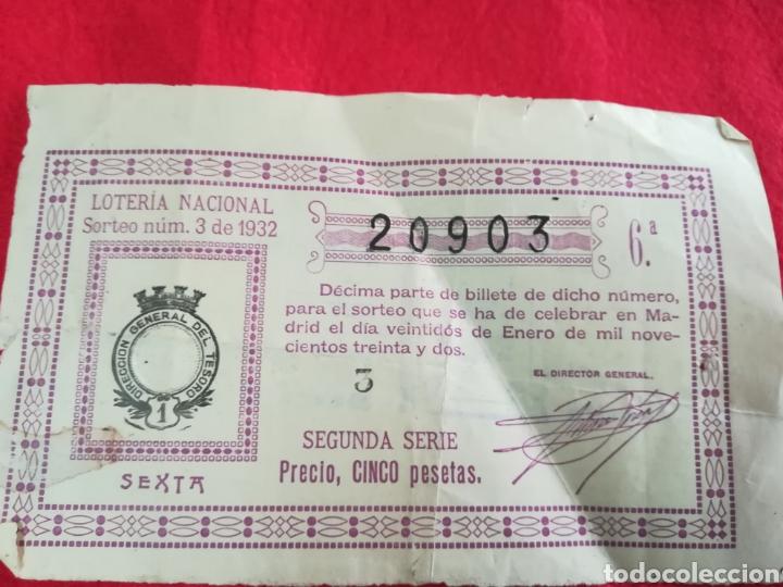 LOTERÍA NACIONAL DE 1932 ( SORTEO N°3) (Coleccionismo - Lotería Nacional)