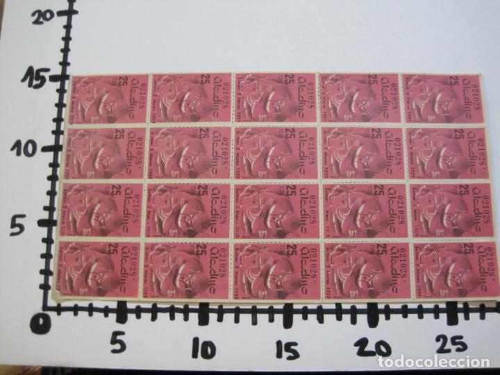 Lotería Nacional: ALADINO-HOJAS COMPLETAS DE CUPONES PARA SORTEO-1958 1959-50,25,10, 5 PTAS-VER FOTOS-(V-19.790) - Foto 10 - 202975101