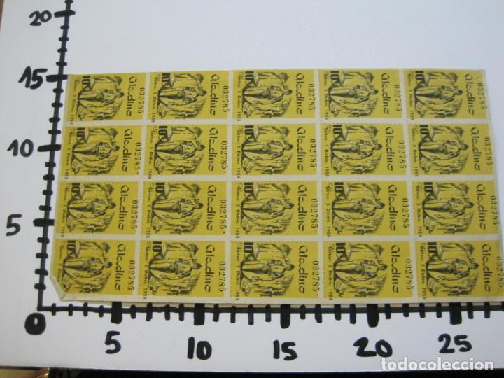 Lotería Nacional: ALADINO-HOJAS COMPLETAS DE CUPONES PARA SORTEO-1958 1959-50,25,10, 5 PTAS-VER FOTOS-(V-19.790) - Foto 14 - 202975101