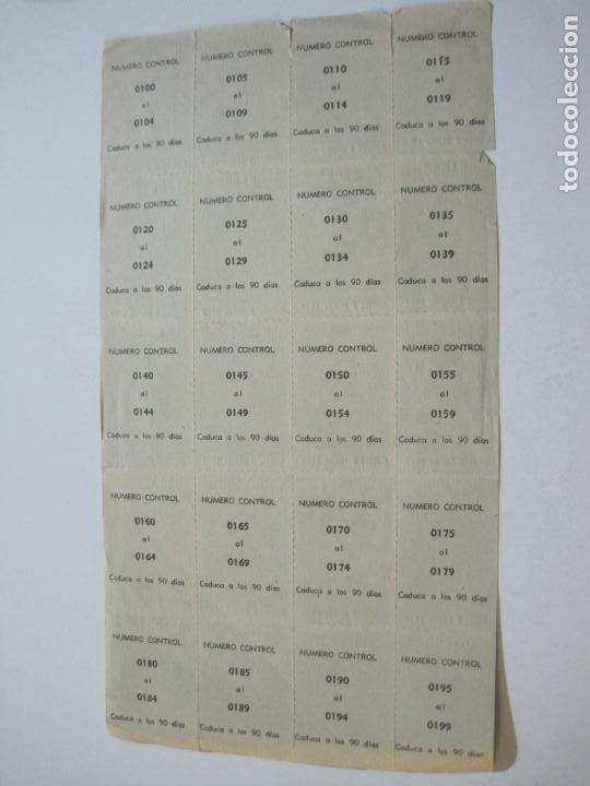 Lotería Nacional: ALADINO-HOJAS COMPLETAS DE CUPONES PARA SORTEO-1958 1959-50,25,10, 5 PTAS-VER FOTOS-(V-19.790) - Foto 17 - 202975101