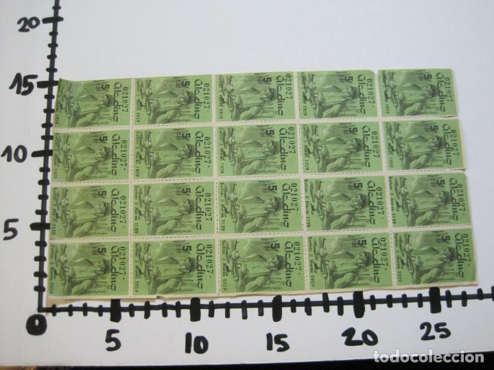 Lotería Nacional: ALADINO-HOJAS COMPLETAS DE CUPONES PARA SORTEO-1958 1959-50,25,10, 5 PTAS-VER FOTOS-(V-19.790) - Foto 19 - 202975101