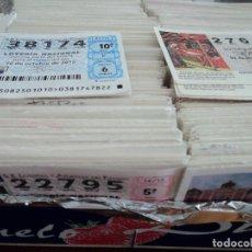 Lotería Nacional: 2,3 KGS DE DECIMOS DE LOTERIA NACIONAL COMPRENDIDA ENTRE LOS AÑOS 2011/15. Lote 203031998