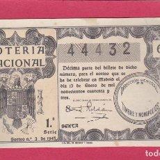Loterie Nationale: LOTERIA NACIONAL SORTEO 2 DE 1943. Lote 203578683