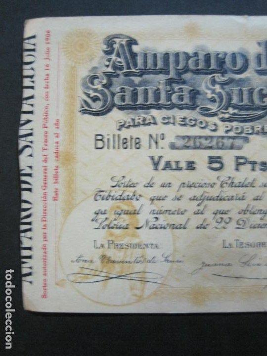 Lotería Nacional: BARCELONA-AMPARO DE SANTA LUCIA-SORTEO CHALET AVDA TIBIDABO-LOTERIA-AÑO 1906-VER FOTOS-(69.657) - Foto 3 - 203817373