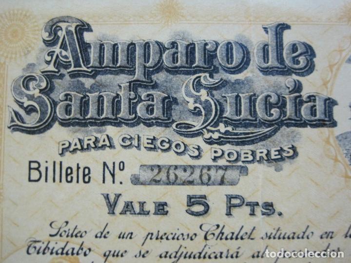 Lotería Nacional: BARCELONA-AMPARO DE SANTA LUCIA-SORTEO CHALET AVDA TIBIDABO-LOTERIA-AÑO 1906-VER FOTOS-(69.657) - Foto 6 - 203817373