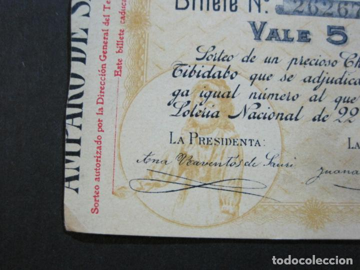 Lotería Nacional: BARCELONA-AMPARO DE SANTA LUCIA-SORTEO CHALET AVDA TIBIDABO-LOTERIA-AÑO 1906-VER FOTOS-(69.657) - Foto 8 - 203817373