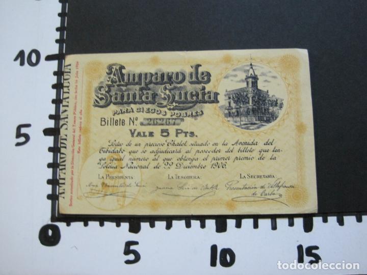 Lotería Nacional: BARCELONA-AMPARO DE SANTA LUCIA-SORTEO CHALET AVDA TIBIDABO-LOTERIA-AÑO 1906-VER FOTOS-(69.657) - Foto 10 - 203817373