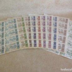 Lotería Nacional: LOTE 100 DECIMOS EN 10 HOJAS 10 SERIES DIFERENTES SORTEO 33 AÑO 1963 TRES EN RAYA LOTERIA NACIONAL. Lote 204014968